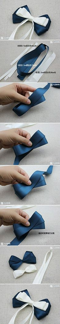 #DIY #tutorials to make a #ribbon #bow for many use, home decor or dress decoration even pin it on headband.