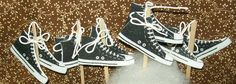 12 Black Converse Basketball Sneakers Cupcake by AbsolutelyDottie, $8.00