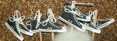 12 Black Converse Basketball Sneakers Cupcake by AbsolutelyDottie, $8.00
