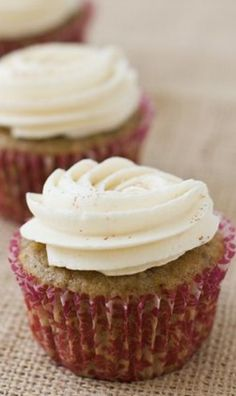 Fig Spice Cupcakes with Honey Cinnamon Buttercream Recipe | Love and Olive Oil