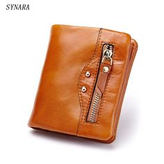 Check it on our site Oil Wax Leather Wallet Female Wallets with Zipper Coin Bag Genuine Leather Women Wallets Small Short Purses for Female just only $14.93 with free shipping worldwide  #walletsformen Plese click on picture to see our special price for you