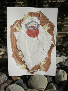 Child Jesus Christmas Card - ripped paper for kids to make