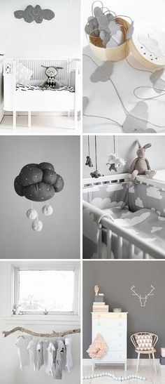 gray + white nursery