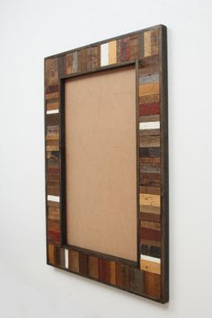 Reclaimed Wood Mirror frame, mirror not included, many different sizes available Reclaimed Wood Mirror, Wood Framed Mirror, Wooden Wall Art, Wood Picture Frames, Picture On Wood, Chalkboard Mirror, Mirror Shop, Rustic Mirrors, Glass Design
