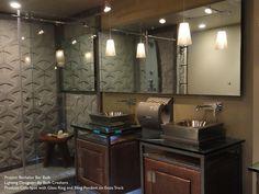Bruck Lighting Bling II Pendants. Great lighting for the ultimate bachelor bathroom.