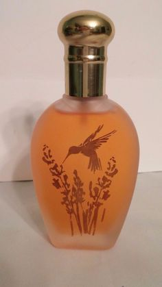 Vintage Coty Vanilla Fields Cologne Spray 2.5 oz Hummingbird & Flowers Bottle #Coty