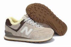 Joes New Balance ML574ST Winter Wool Gery White Brown Eskimo Mens Shoes