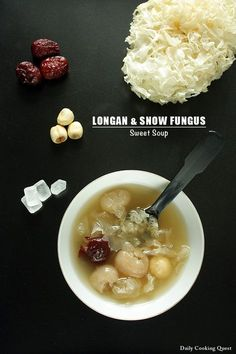 <p>Among the many Chinese sweet soup (糖水), longan and snow fungus ranks among my most favorite. The basic ingredients are of course dried longan meat and snow fungus. Rock sugar is usually the choice sweetener for all kind of Chinese sweet soup, but you can always substitute with regular sugar. …</p>
