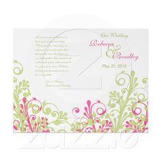 Pink + Lime Invite