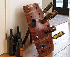 creative barrel wine rack