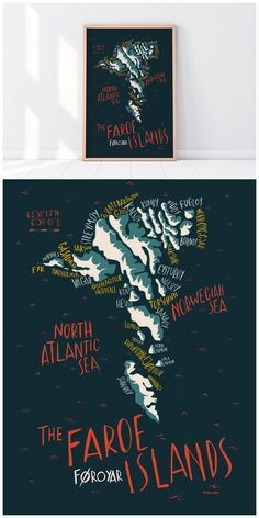 Faroe islands lettering map @siralobo