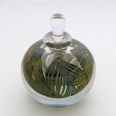 Vintage Robert Burch Hand Blown Perfume Bottle