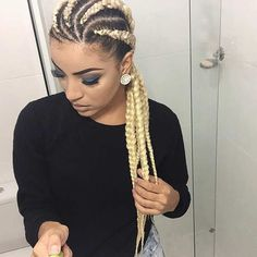Blonde Cornrows - Perfect Summer Hairstyle