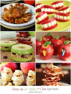 6 Apple snacks for kids to dress up your apples -- cute!