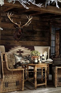 Ralph Lauren Home's Alpine Lodge collection provides gorgeous outdoor dining - t. - Ralph Lauren Home's Alpine Lodge collection provides gorgeous outdoor dining - the perfect setting for an apres ski