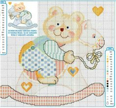 Cross Stitch Baby, Cross Stitch Charts, Boys Watches, Pet Treats, Dog Snacks, Baby Boy, Bunny, Teddy Bear, Kids Rugs