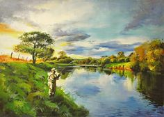 The Bend In The Moy Painting by Conor McGuire