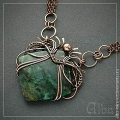 square wire wrapped pendant