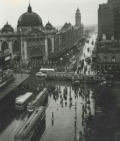Image: Max Dupain Melbourne with rain 1946 printed c. 1986 National Gallery of Victoria, Melbourne Purchased with funds donated by Hallmark Cards Australia Pty Ltd, 1987 Melbourne Weather, Australian Photography, Destinations, Melbourne Victoria, All I Ever Wanted, City Photography, Documentary Photography, Australian Artists, Historical Pictures