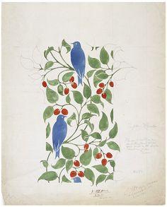 aleyma:  C.F.A. Voysey, Textile design, 1898 (source).