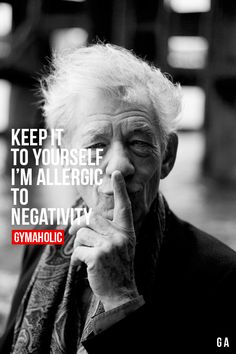 Allergic to negativity! Funny and True #truth | re-pinned by http://www.wfpcc.com/palmbeachgardensrealestate.php