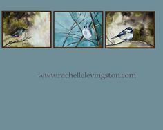watercolor painting bird 3 Bird wall art by rachellelevingston $30.00 Etsy.com