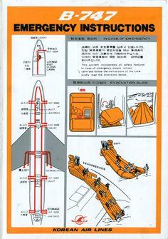 Korean Air Lines B 747 Safety Card @ Carl Reese