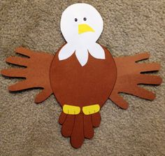 Bald eagle craft & writing activity! - would be good in our social studies book on american symbols