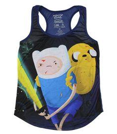 Adventure Time Jake Finn Photo Tank Top Juniors Shirt