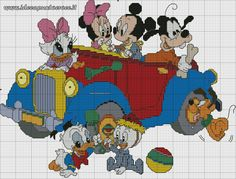 schema punto croce Baby Disney