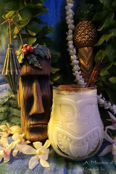 This image has an empty alt attribute; its file name is This image has an emp Tiki Room Disney, Cocktail Drinks, Cocktails, Tiki Art, Tiki Tiki, Tiki Hawaii, Tiki Decor, Tiki Lounge, Tropical Party
