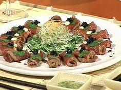 Sashimi de carne vacuna