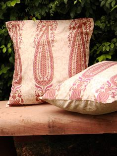 Brown Block Printed Cotton Cushion Covers - Set Of 2