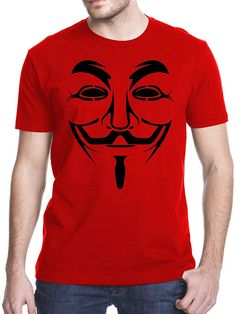 Anonymous Mask T-Shirt, Small, Red Shrunken Head Tattoo, Anonymous Mask, Head Tattoos, Branded T Shirts, Fashion Brands, Charcoal Gray, Mens Tops, Clothes, Amazon