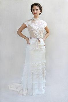 sigh. can I get married again? WILD ORCHID silk chiffon lace wedding dress