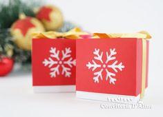 Caixinha Decorada de Natal blog.conviteriadaline.com.br