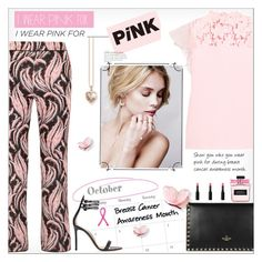 I Wear Pink for... by alves-nogueira on Polyvore featuring polyvore fashion style Giambattista Valli Gianvito Rossi Valentino Thomas Sabo clothing