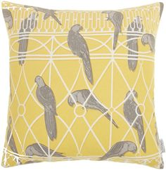 Le Mieux Living by Christiane Lemieux Aviary print cushion, chartreuse on shopstyle.co.uk