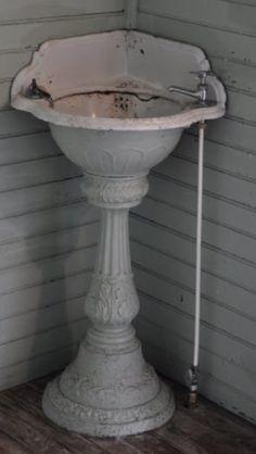 antique corner sink
