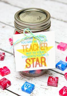 Star Teacher Gift in a Jar - Teacher Appreciation Gift for a Star Teacher!!