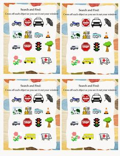 Road Trip Cards - car game printables