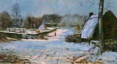 Cottages+in+the+Snow,+1891+-+Maxime+Maufra