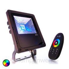 IP65 - LED-Außenstrahler Flood Color RF-10 - 10W sicher & bequem online bestellen bei Lampenwelt.de.
