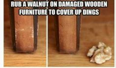 A very simple solution to get rid of furniture scratches!  Via Obrienkr18 (Uploaded to Pinterest)