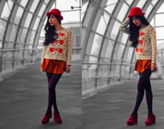 She Walks In Red (by Xanna Reis) http://lookbook.nu/look/3401673-She-Walks-In-Red
