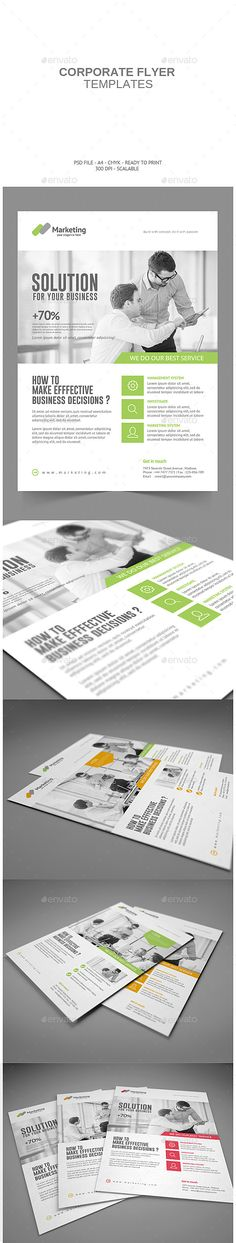 Corporate Flyer #corporate #flyer #template #graphicdesign #business #modern…