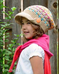 CROCHET PATTERN - Summer Slouchy - crochet slouchy hat pattern, crochet hat pattern (Toddler Child Adult sizes) - Instant PDF Download