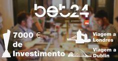 O BET 24 Horas é um concurso de empreendedorismo e iniciativa lançada pelo BET - Bring Entrepreneurs Together - o Clube de Empreendedorismo da Católica - Lisbon School of Business and Economics. A competição conta com 11 workshops e oportunidades de networking, com jurados e oradores de referência nacional e internacional. Candidaturas abertas até 8 de Abril em www.bet24horas.pt