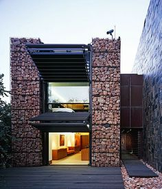 Decorative Gabions / Stones / Rock Walls: Gabion house