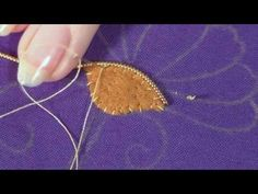 Goldwork embroidery tutorial. Part 2 - Applying Pearl Purl - YouTube